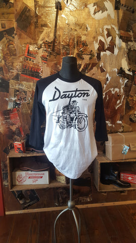 Shirt Dayton Biker  (white/black Baseball) - Men's