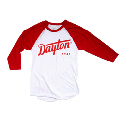 Dayton Script Baseball (Red and White)