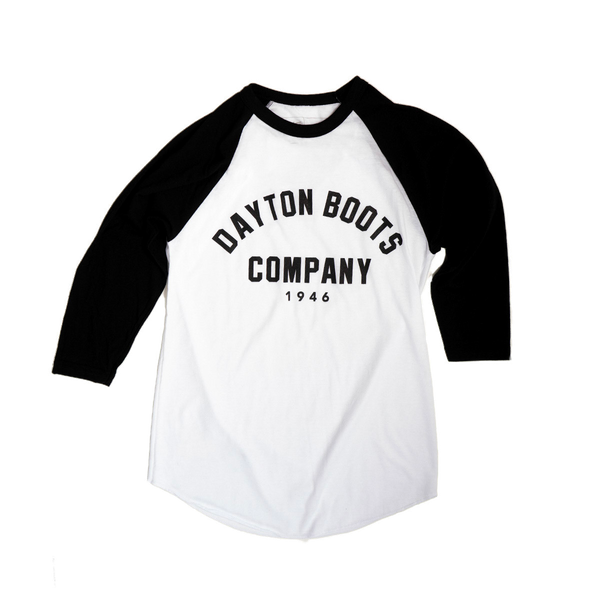 Dayton Arch Baseball Shirt (Black and White)