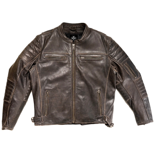 Dayton Black/Brown Leather Commuter Jacket