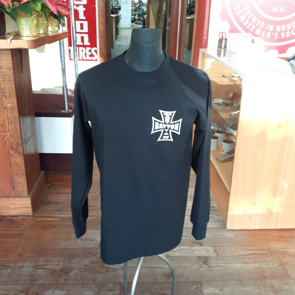 Shirt Dayton Cross (Black Longsleeve) - Men's