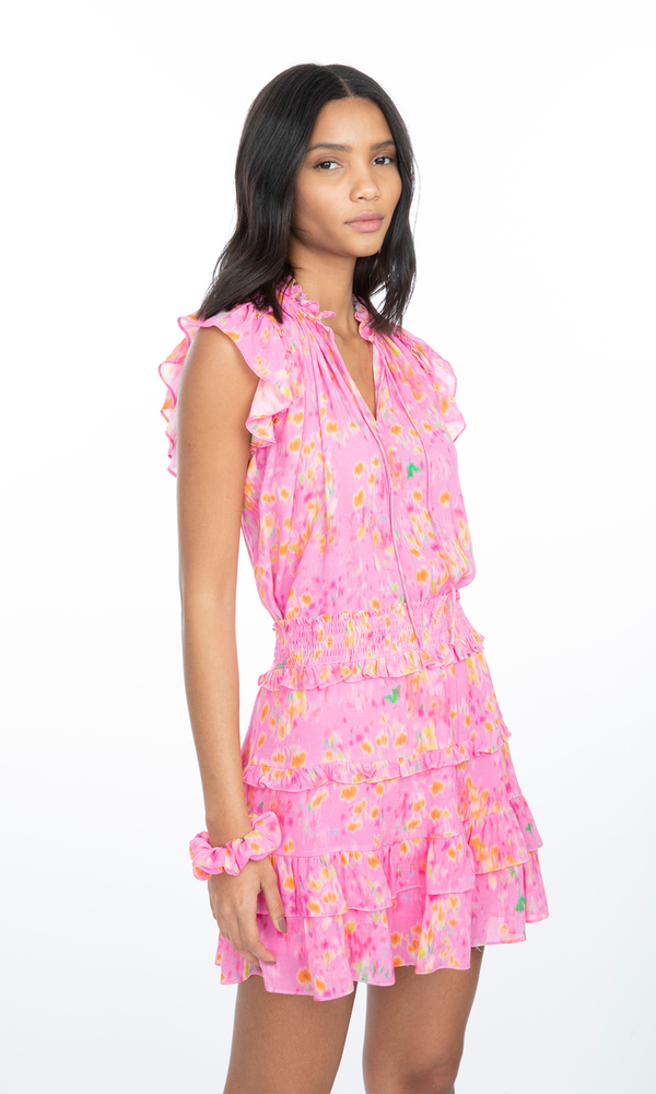 Linn blouse pink blurry