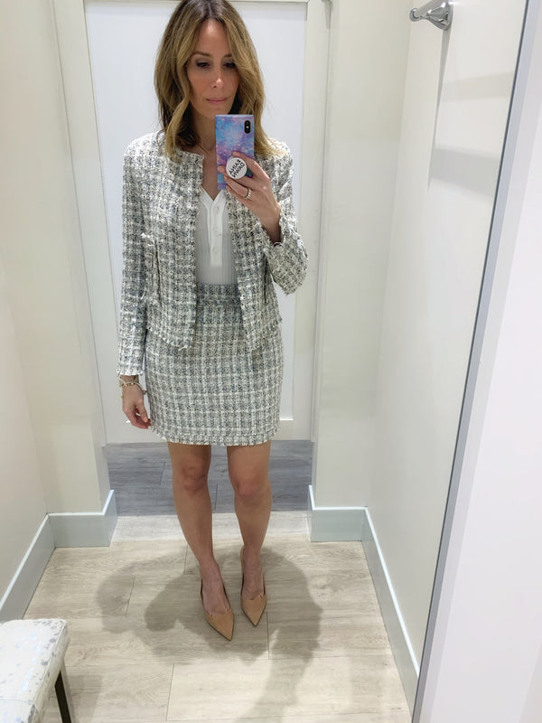 Annika Plaid Tweed Jacket