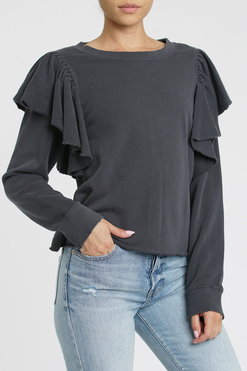 Peyton Ruffle Sweater