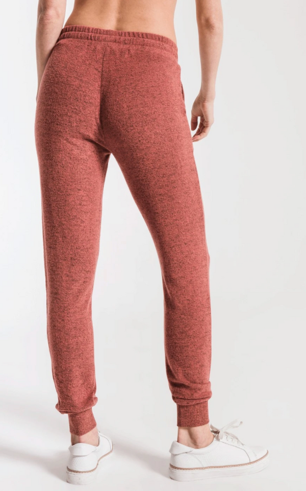 Marled Red Jogger