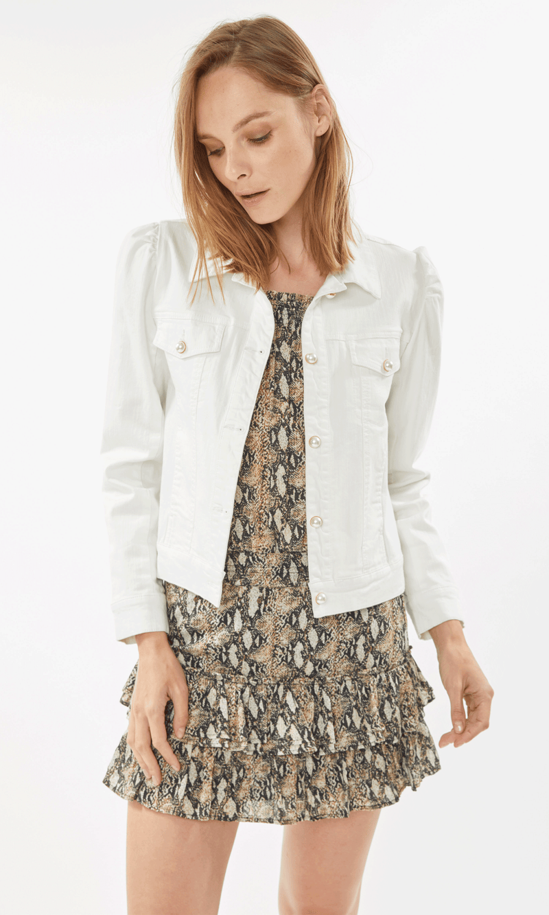 Tallulah White Denim Jacket