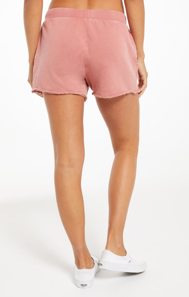 Marina Washed Short Dusty Rose