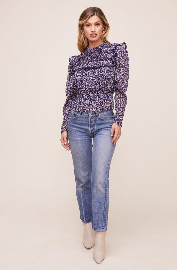 Alcott Top Navy Floral