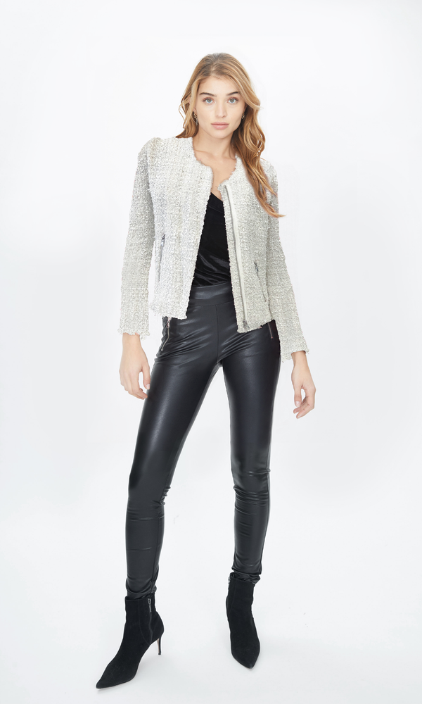 Anna Tweed Blazer Cream