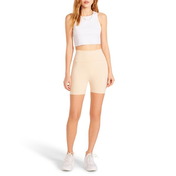 Beige Spun Out Biker Short