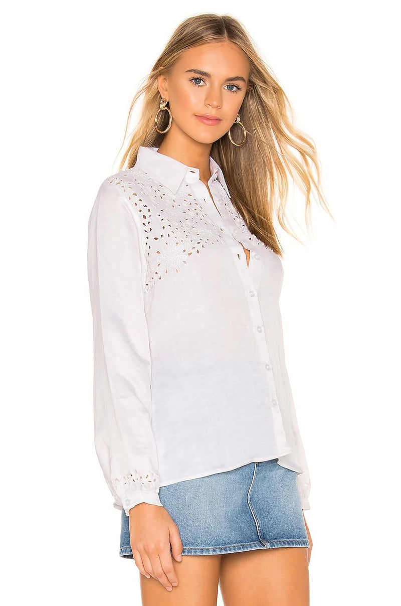 Bella Embellished Button Down Top