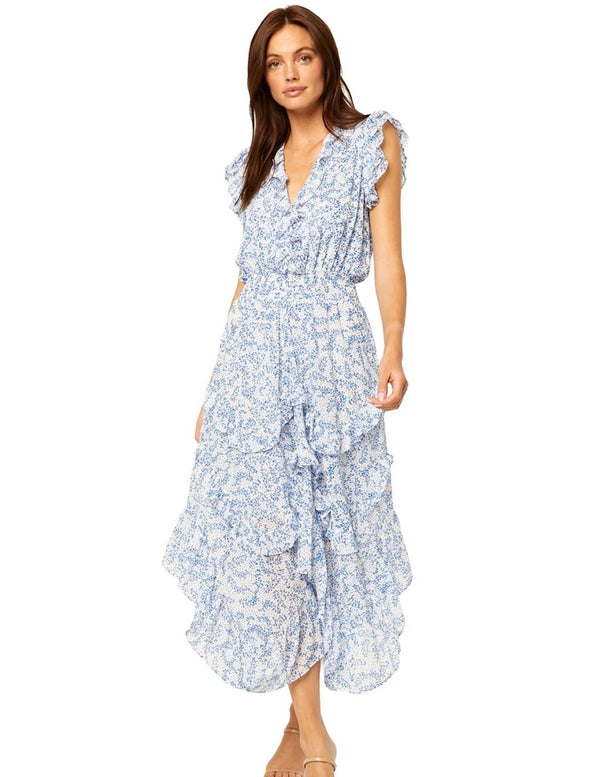 Dakota Dress Blue Petal