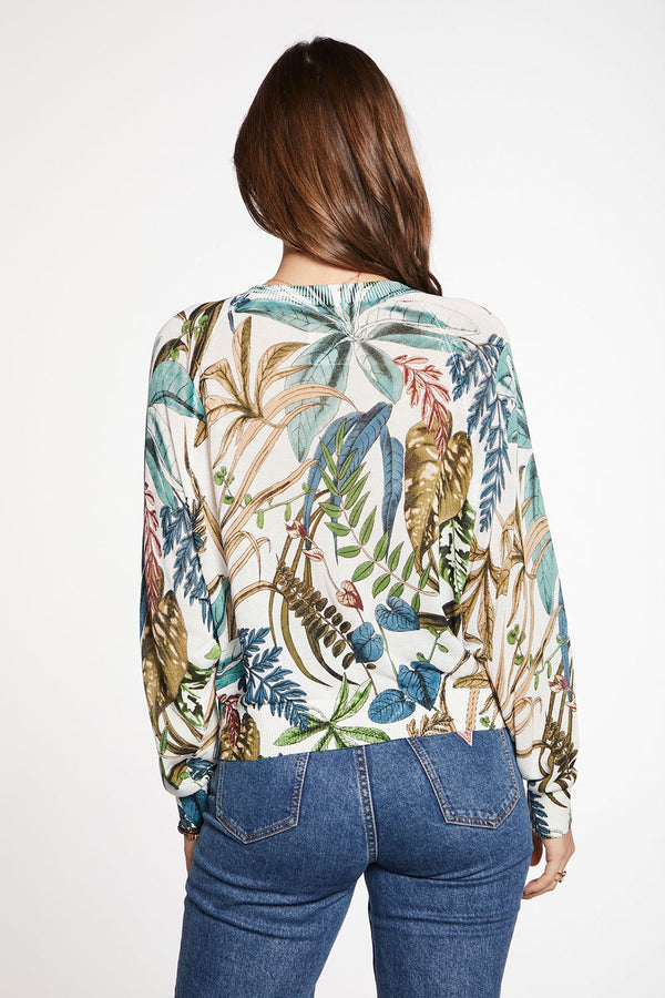 Oversized L/S Raglan Top Botanical