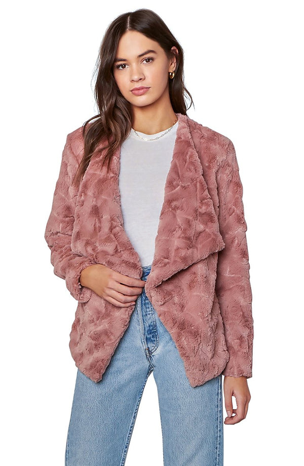 Come Cozy Jacket Rose