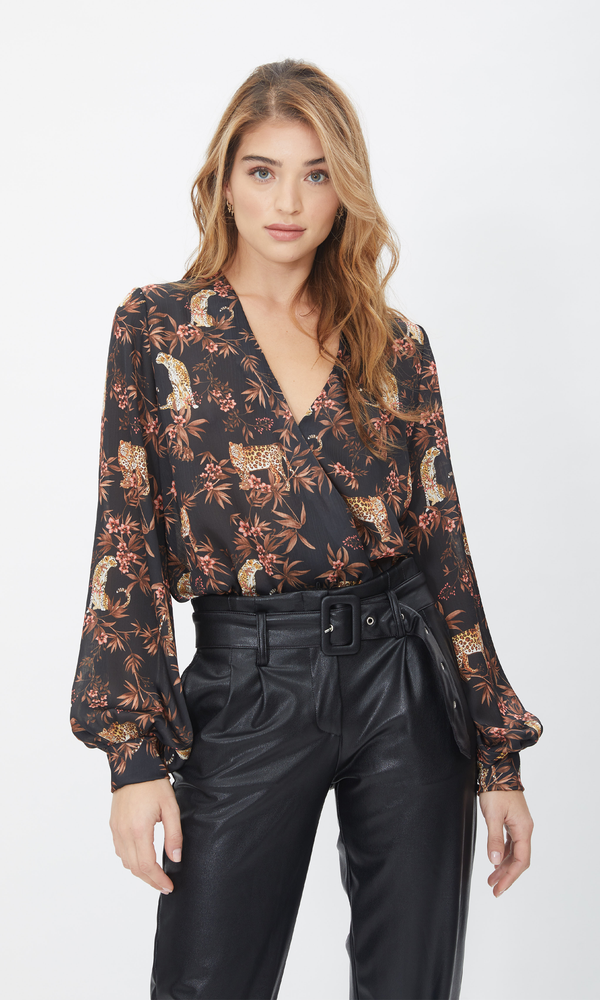 Dory Blouse Moving Leopard