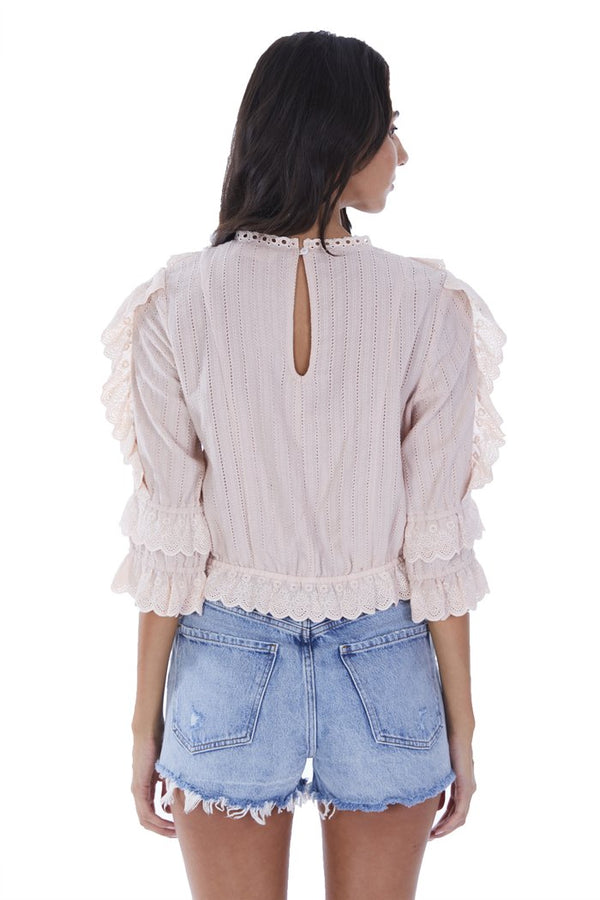 Eyelet Ruffled Blouse