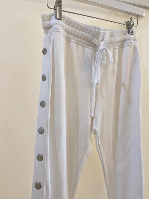 Crop Flare Lounge Pant White