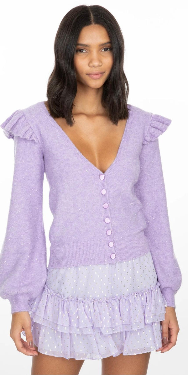 Freesia Cardigan Purple