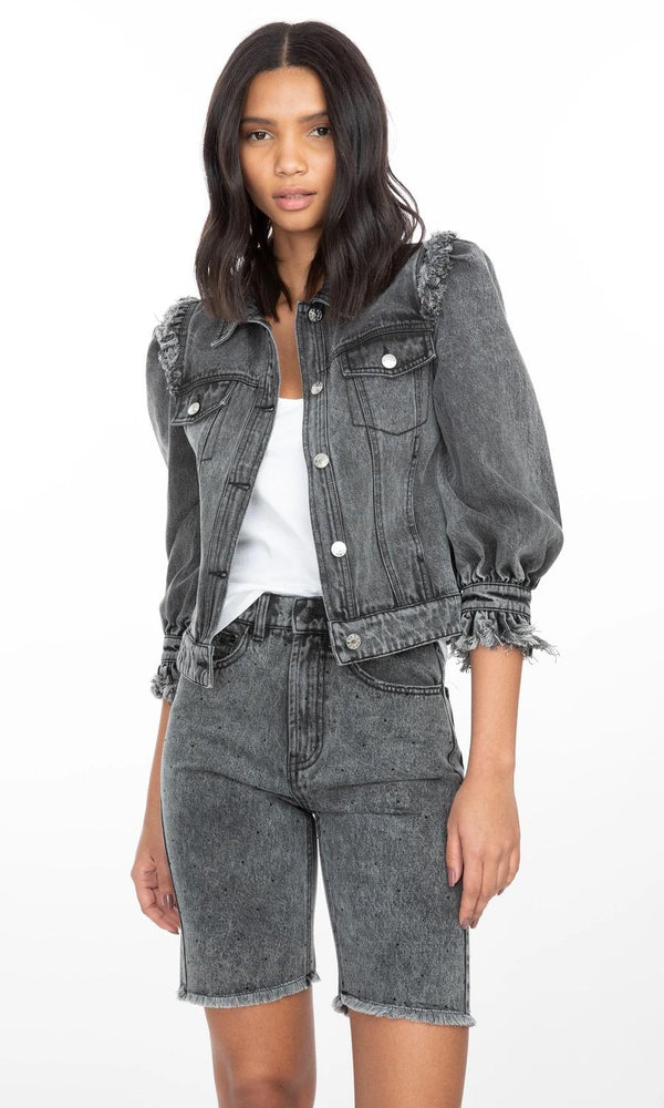 Gabby Denim Jacket BLK