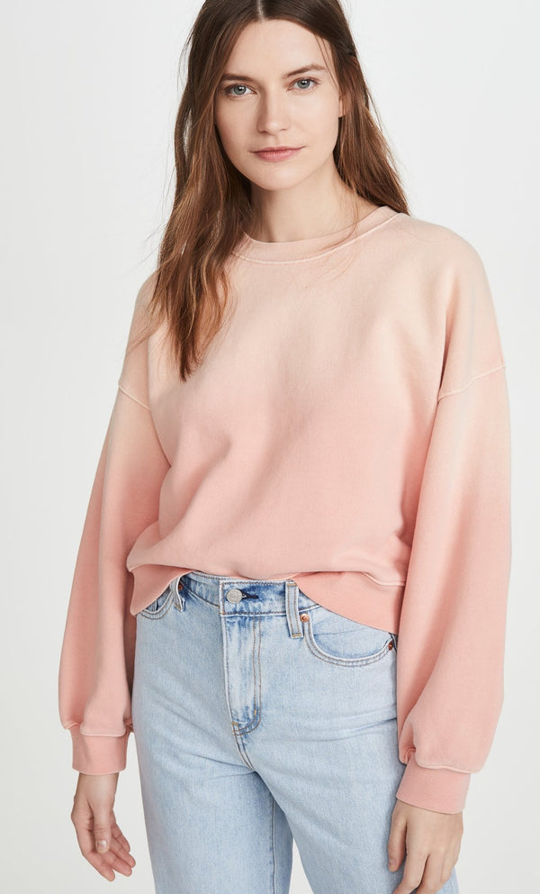 Balloon Sleeve Grapefruit Sweatshirt