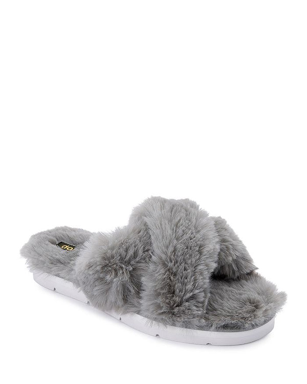 Pillar Grey Faux Fur Slipper