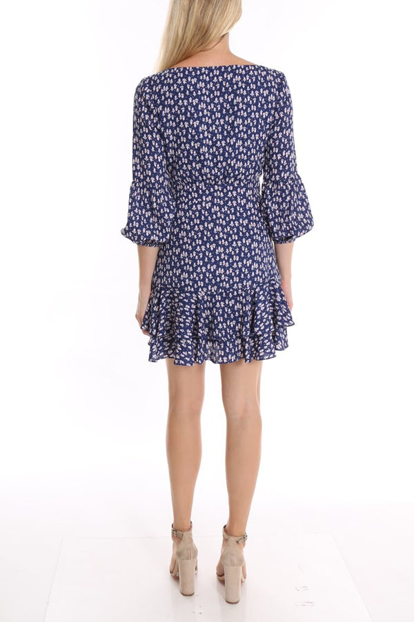Harlow Floral Blue Dress
