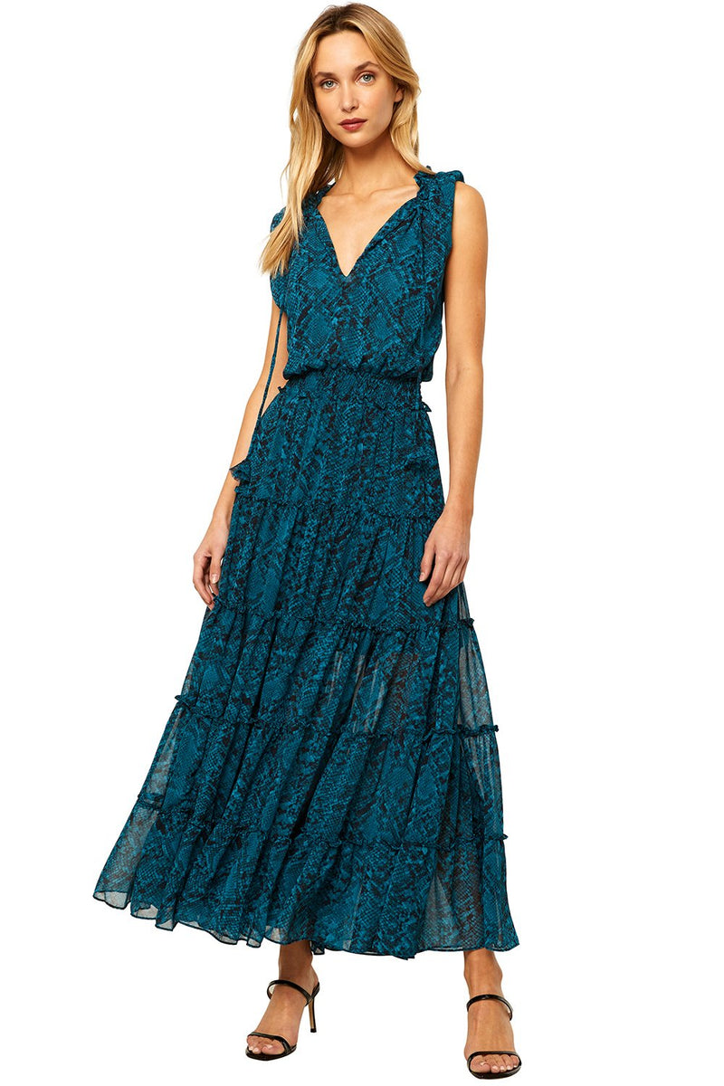 Hollen Dress Snake Teal