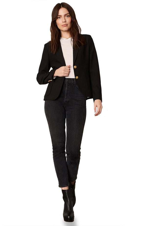 Inside Scoop Blazer Black