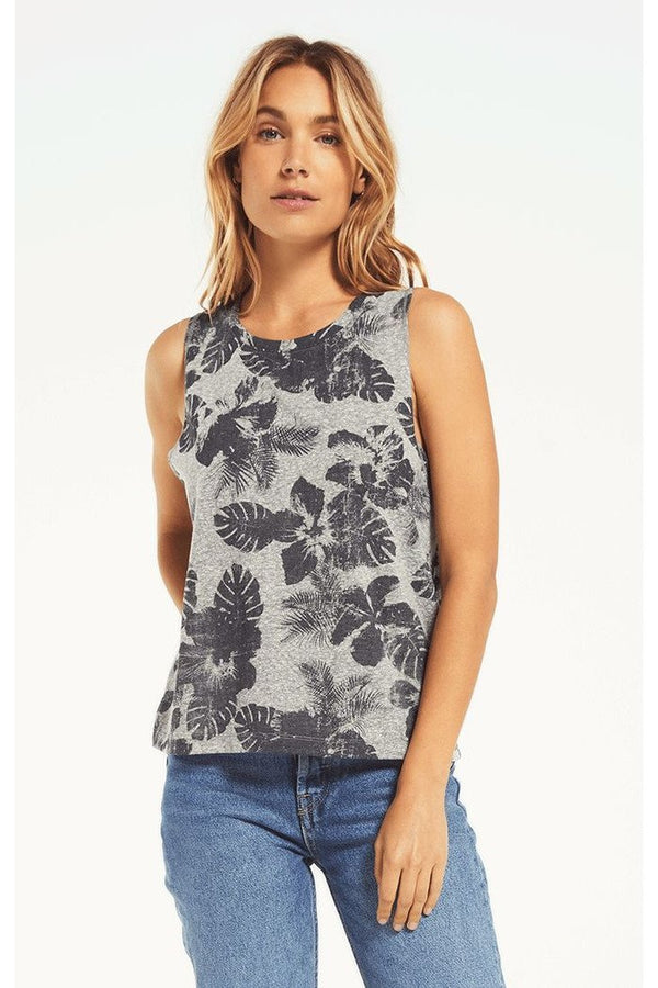 Kaia Tropical Tank Grey