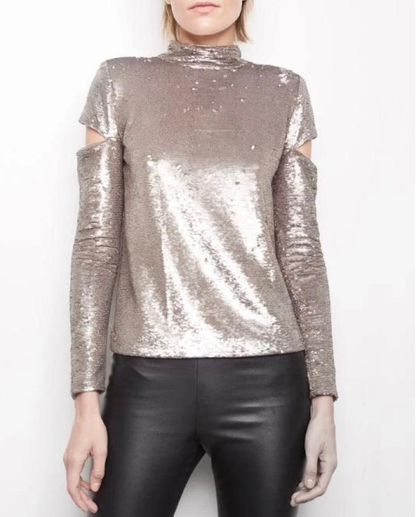 Katrina Sequin Gold Top