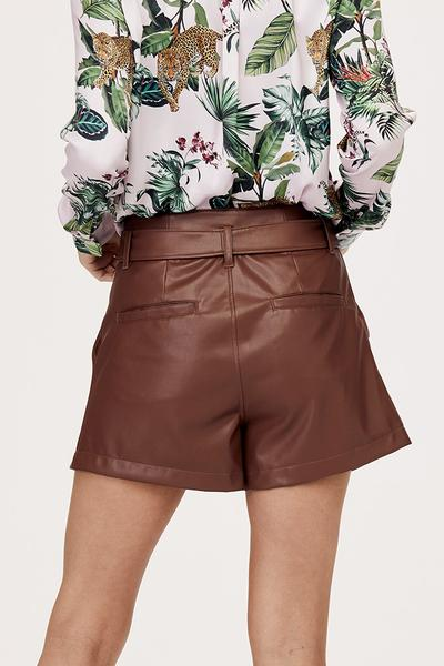 Lexi Pleated Leather Short