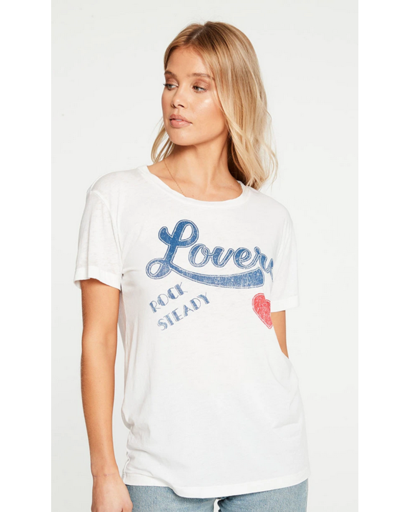 Vintage Jersey Crew Tee Lover White