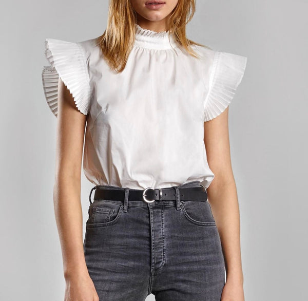 Lucy Short Sleeve Blouse White S