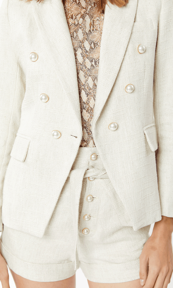 Madeline Tweed Blazer Neutral