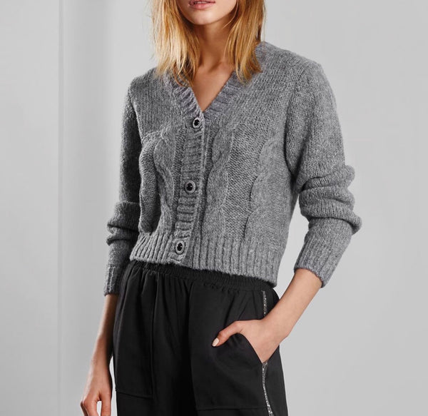 Maison Cardigan Sweater Heather Gray