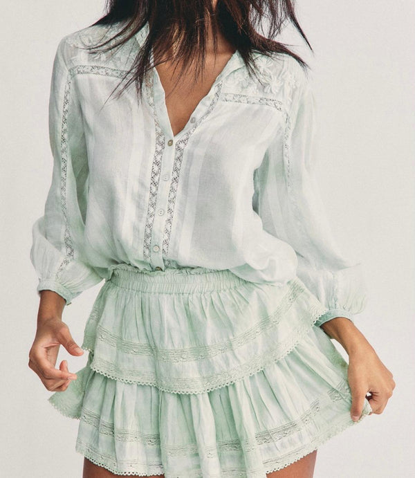 Ruffle Mini skirt Moss Green