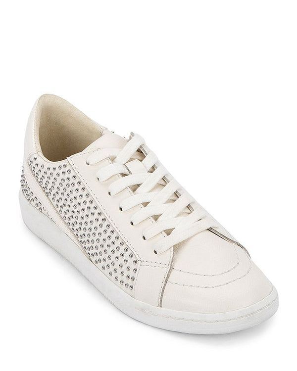 Nino White Studded Leather