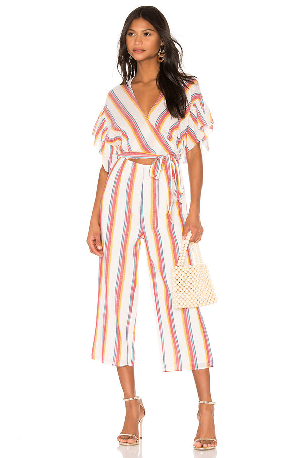 Nneka Rainbow Stripe Jumpsuit