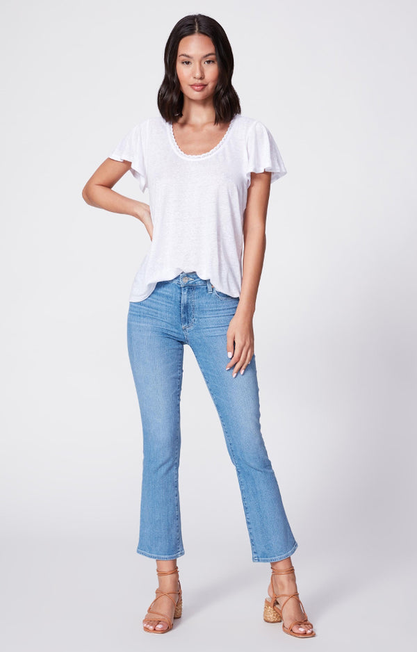 Colette Crop Flare Denim