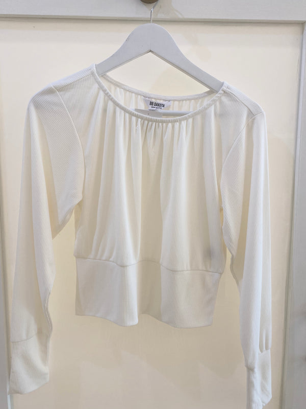 Stay Puffed Top Ivory