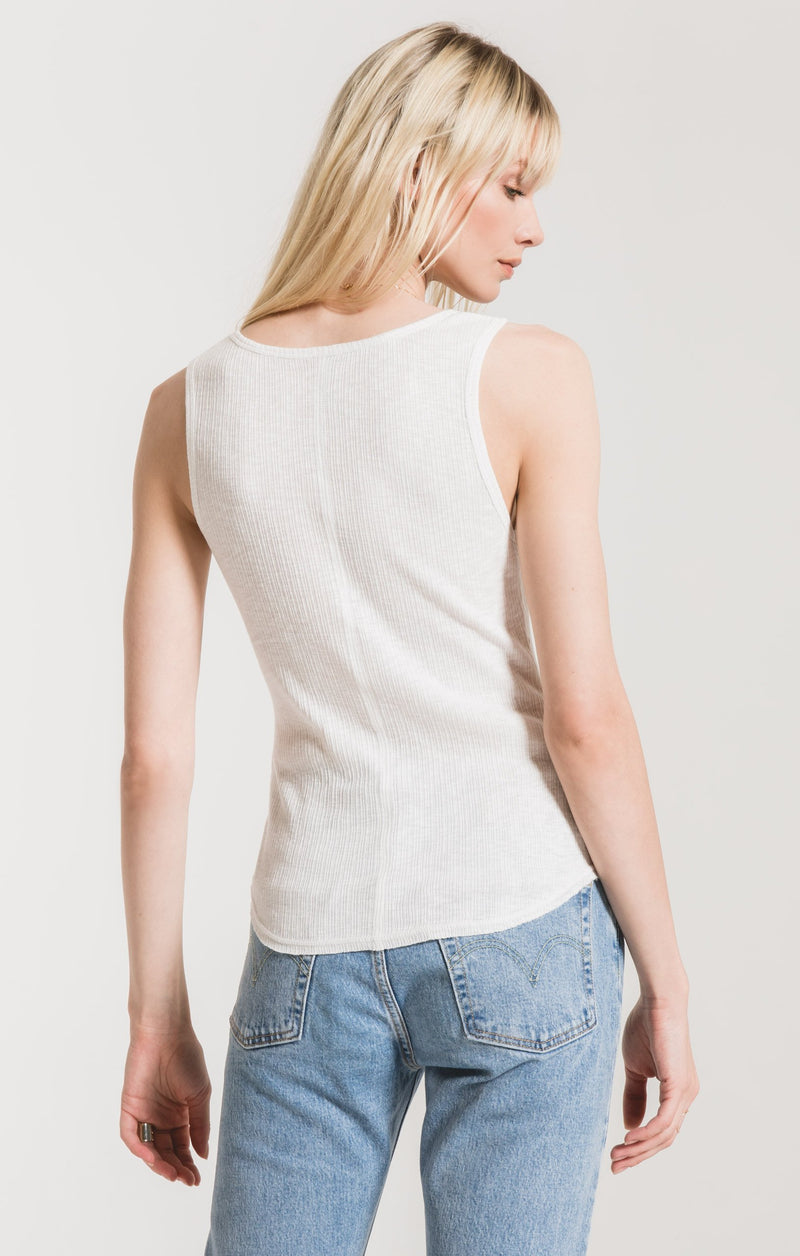 Rib Fitted Tank White