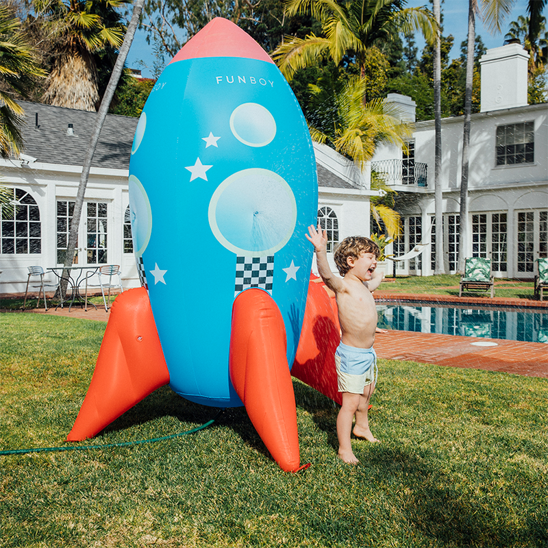 Backyard Rocketship Sprinkler