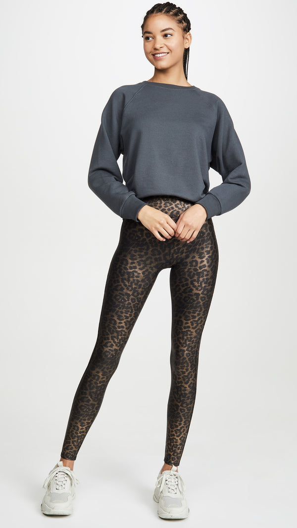 Faux Leather Leopard Shine Legging