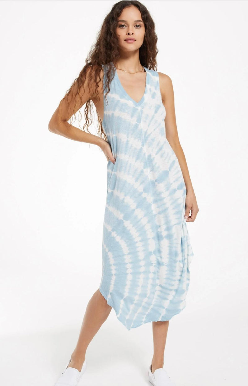Reverie Tie Dye dress Blue