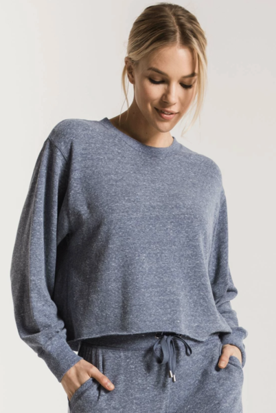 Triblend Cropped Long Sleeve