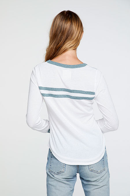 White Dive Shirttail Tee