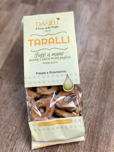 Taralli patate e rosmarino - Potatoes and rosemary taralli 240gr.- Danieli