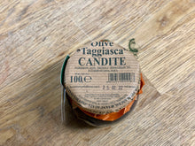 Load image into Gallery viewer, Crystalized Taggiasche olives 100gr. - Taggiasche candite - Sant'Agata d'Oneglia