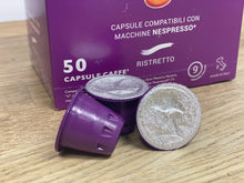 Load image into Gallery viewer, Nespresso compatible capsules 50pcs - Ristretto -  Caffé Toscano