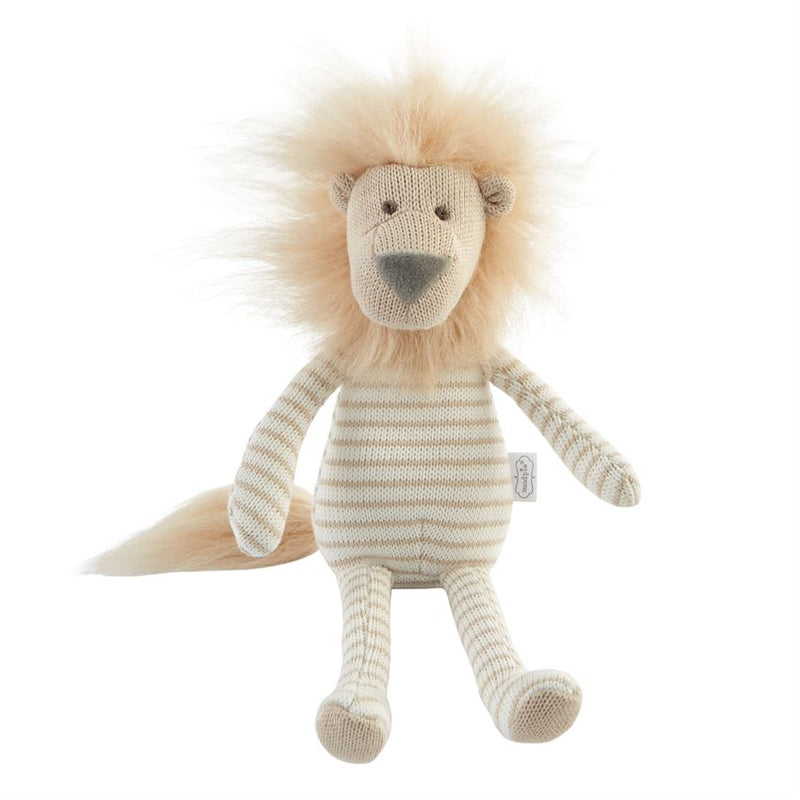 Small Sweater Knit Lion Plush Doll